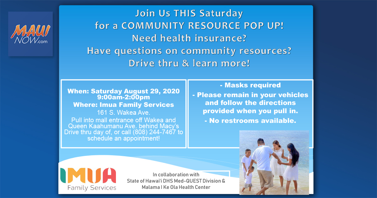Imua Family Services to Hold Community Resource Pop-up Event Saturday