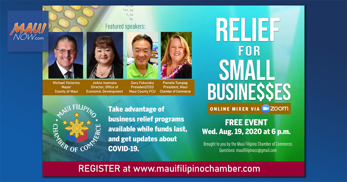 Business Relief Options Featured in Filipino Chamber Online Mixer