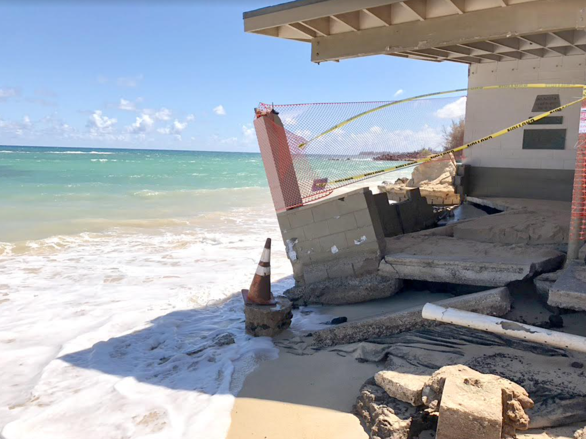Baldwin Beach Pavilion Damaged by Ocean
