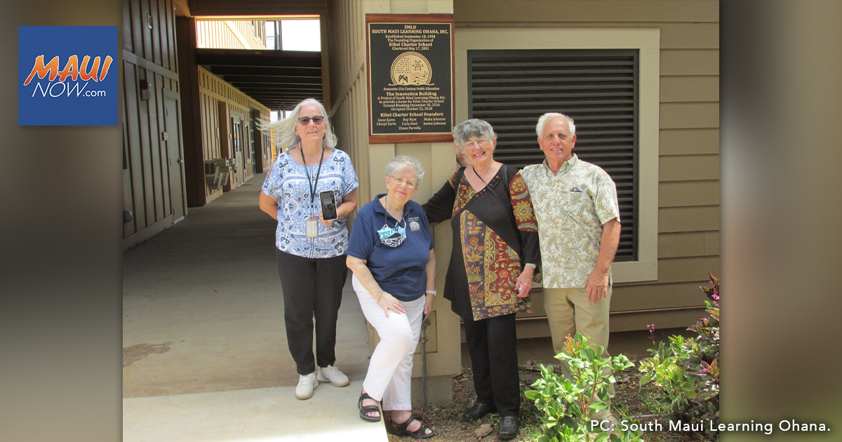 Plaque Commemorates Role in Founding of the Kīhei Charter School