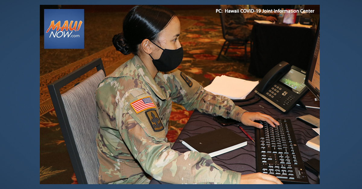 Maui Contact Tracing Includes 24 Health Investigators and 20 National Guard Soldiers