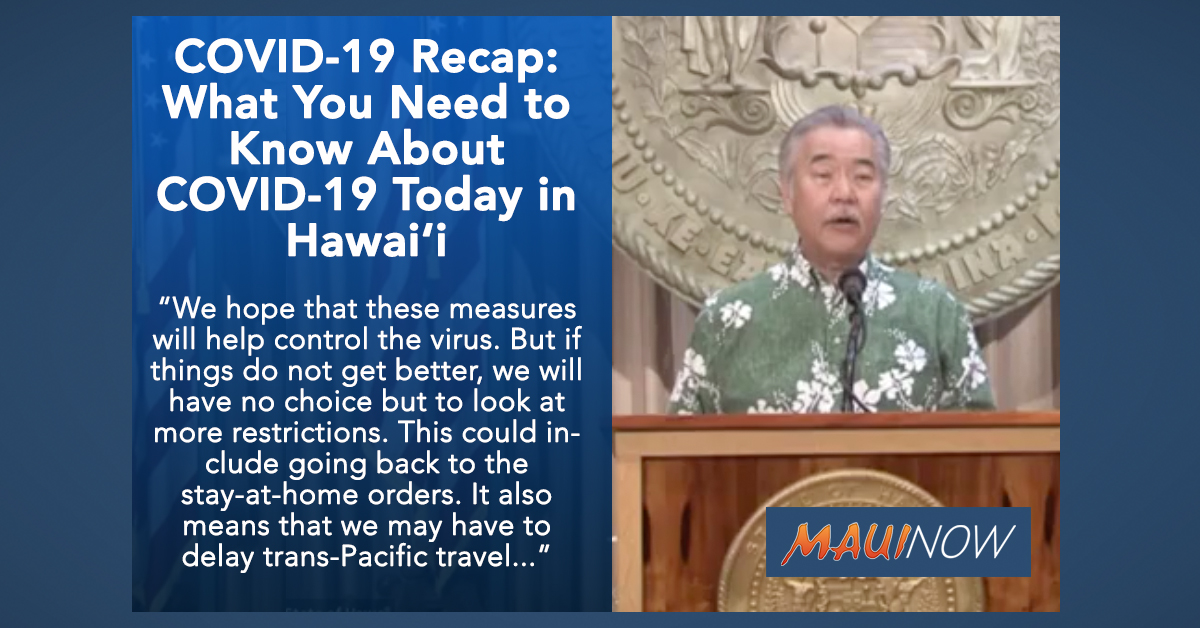 COVID-19 Recap: What You Need to Know About COVID-19 Today in Hawai'i