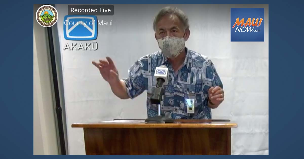Maui Health Officer Issues Follow-up Response to Legislative Demand Seeking his Removal
