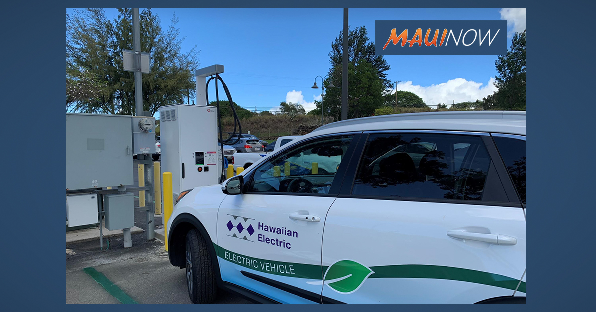 Hawaiian Electric Debuts Fast Electric Vehicle Charger in Pukalani