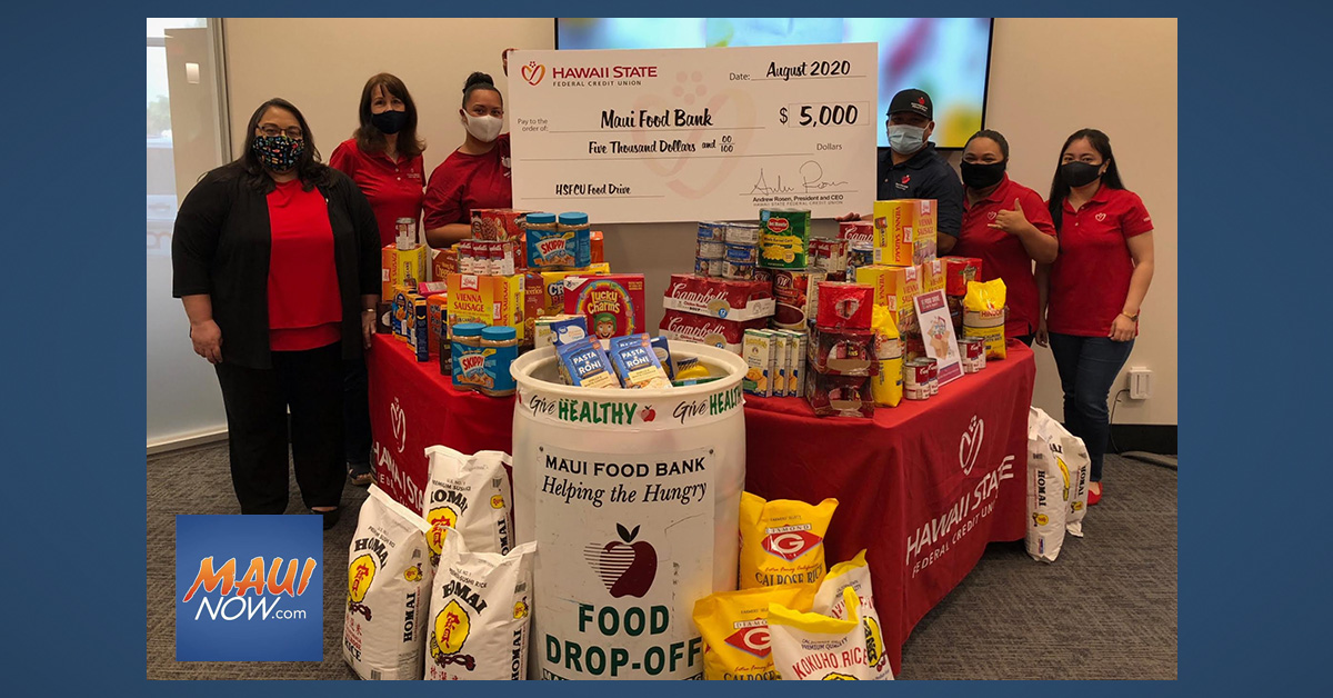 Hawai'i State FCU Donates $5K and 900 Pounds of Food on Maui