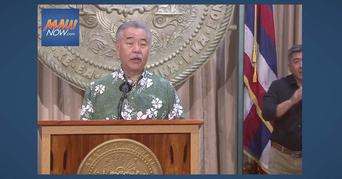 Gov. Ige Intends to Veto Six Bills