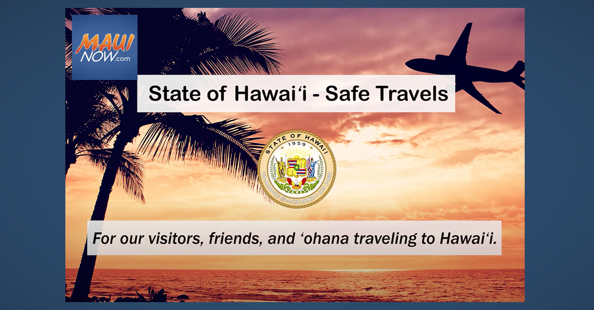 Hawai'i's New Mandatory Safe Travels Online System Starts Sept. 1