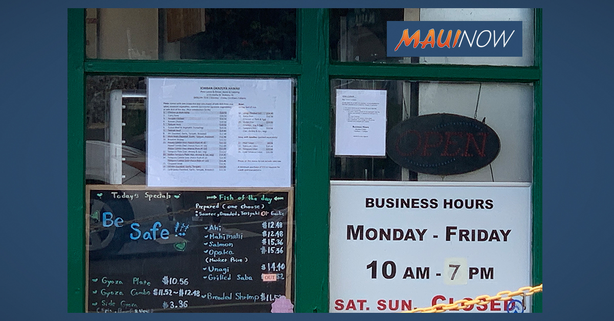 UHERO Analysis: Maui Businesses Most Adversely Affected by Economic Impacts of COVID-19