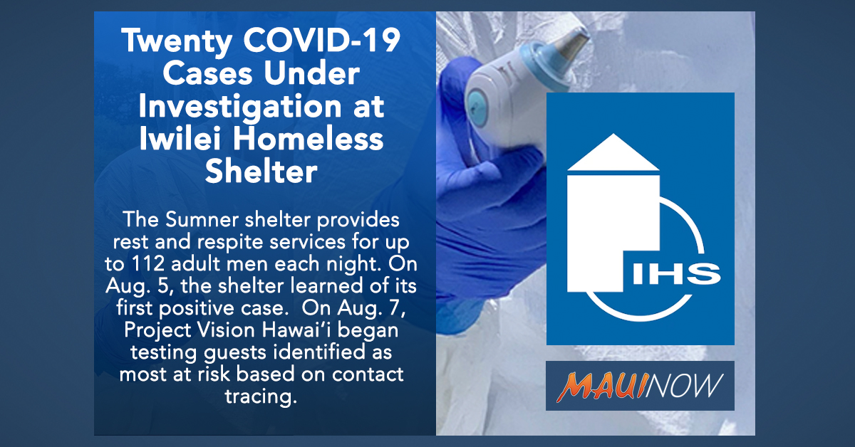 Twenty COVID-19 Cases Under Investigation at Iwilei Homeless Shelter