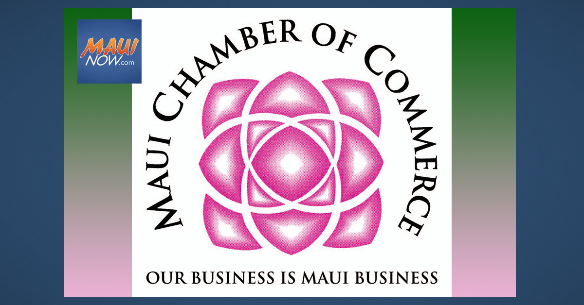 Maui Chamber of Commerce Seeking Nominations for Mayor's Small Business Awards
