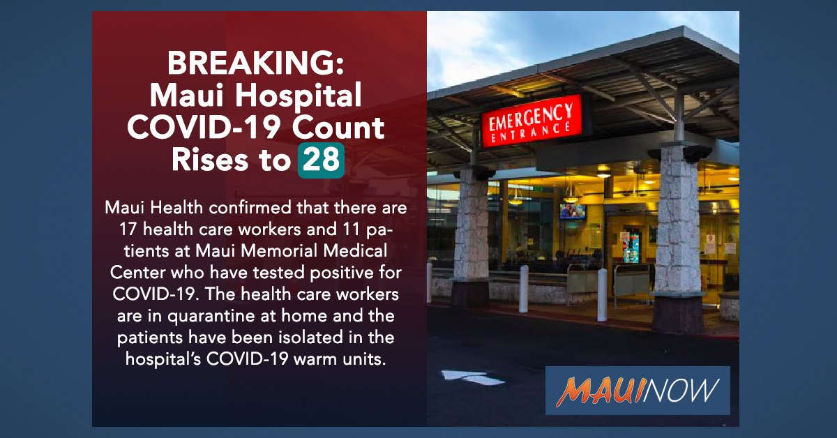 BREAKING: Maui Hospital COVID-19 Count Rises to 28
