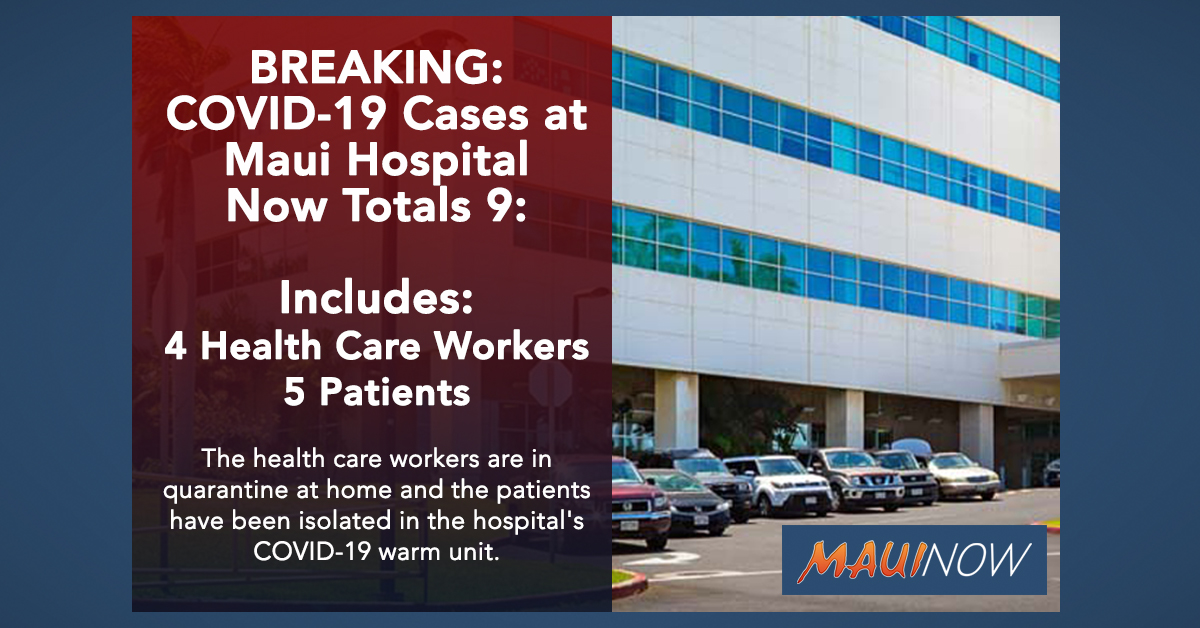 BREAKING: COVID-19 Cases at Maui Hospital Rise to Nine: Includes 4 Health Care Workers, 5 Patients