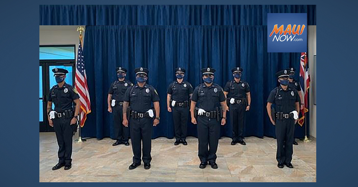 Eight Recruits Join Ranks of Maui Police Department as Part of 90th Recruit Class