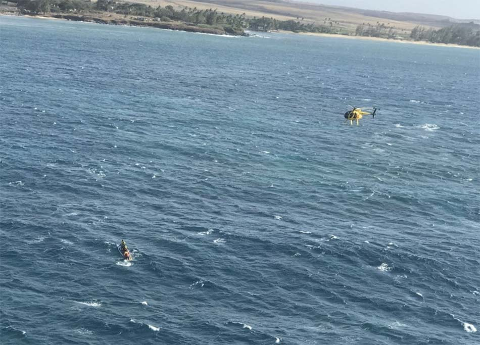 60 Year Old Paddler Aboard 20-Foot Kayak Rescued Off Kahului, Maui
