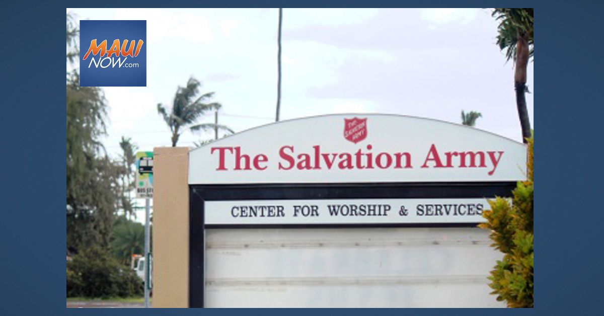 The Salvation Army in Hawai'i Receives Over $110K in Grants and Donations
