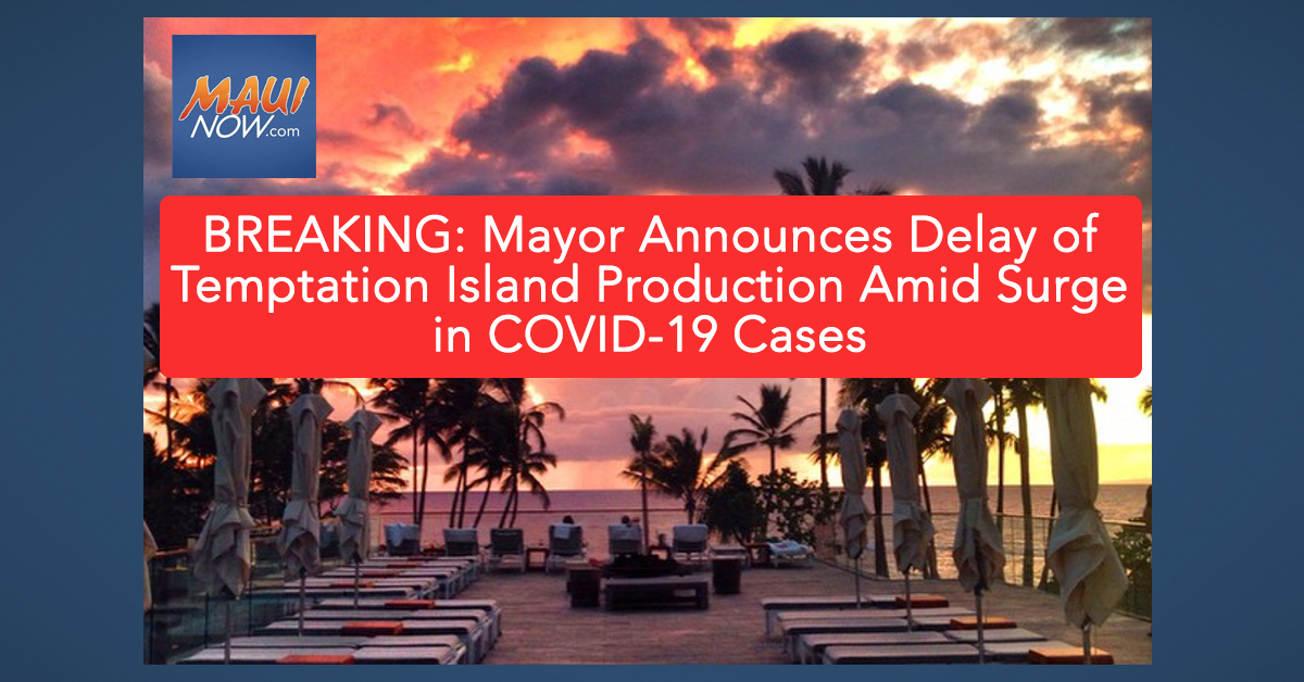 BREAKING: Mayor Announces Delay of Temptation Island Production Amid Surge in COVID-19 Cases