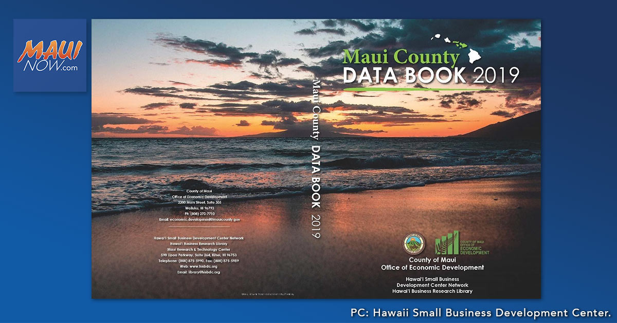 2019 Editions of Maui County and Hawai'i Data Books Released