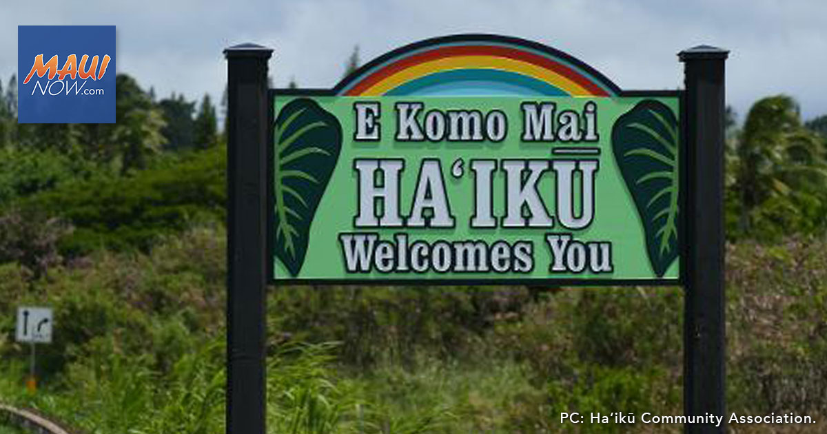 Food Distribution in Haʻikū, Friday, Nov. 6 from 9 to 11 a.m.
