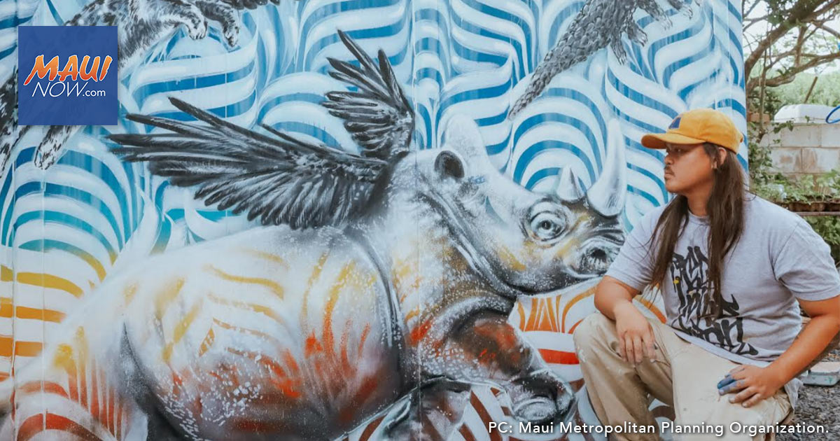 Maui Artist Matthew Agcolicol Selected for Kahului Street Art Project