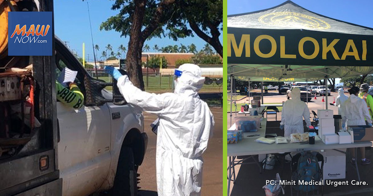 About 150 Tested for COVID-19 on Moloka'i Drive Through Testing Event