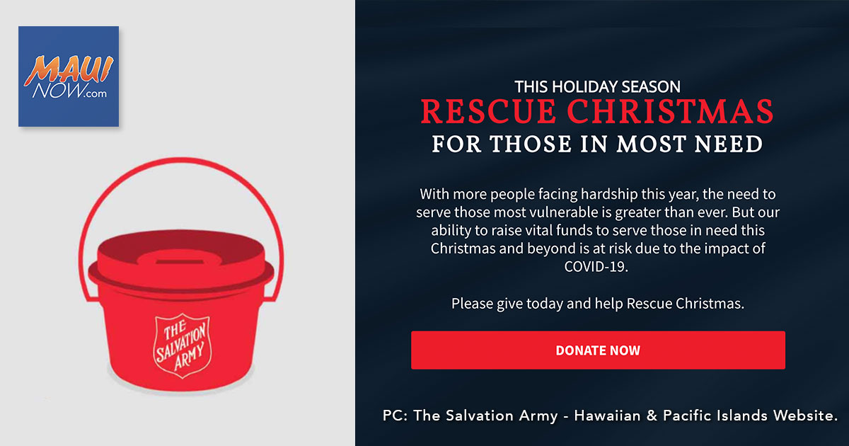 "Salvation Army Sets Out to ""Rescue Christmas,"" Launches Iconic Holiday Campaign Early"