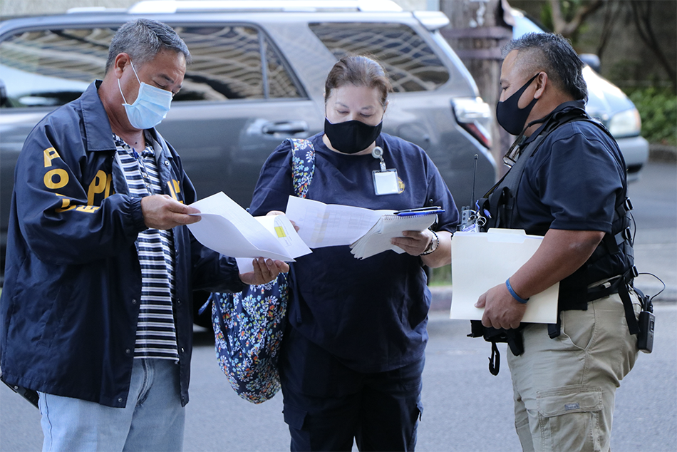 Special Agents Conduct Quarantine Compliance Checks at Two Waikīkī Hotels
