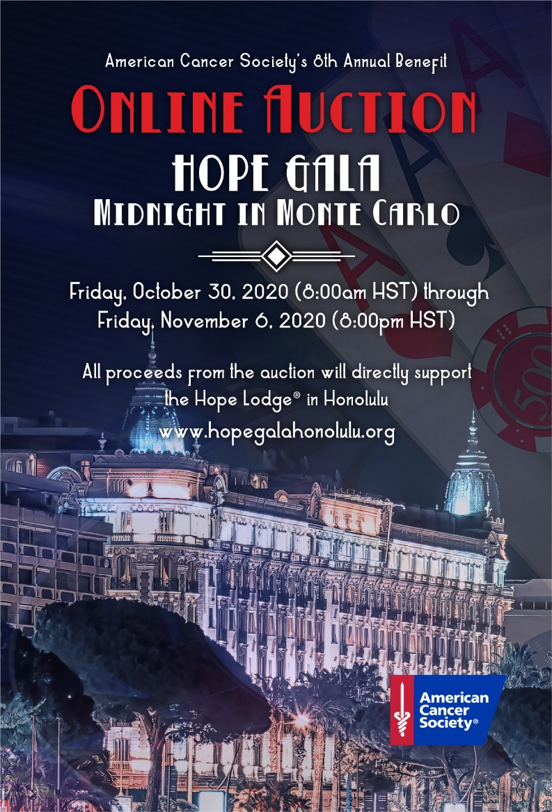 American Cancer Society To Hold Virtual Hope Gala Honolulu With Online Auction