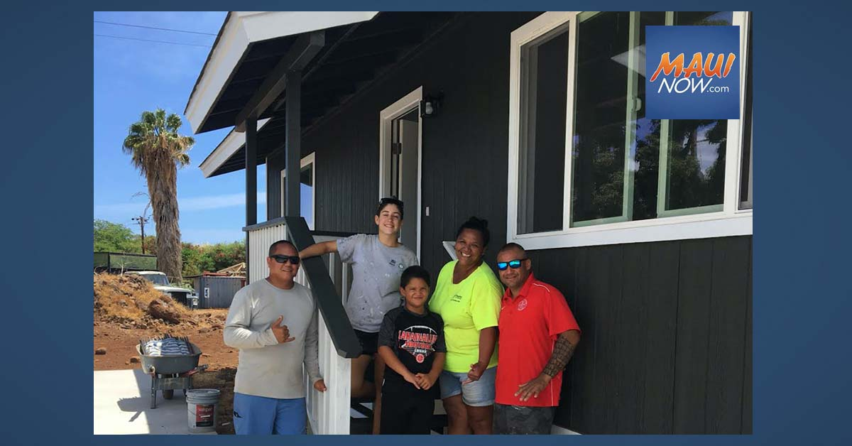 Two Maui Families Get Keys to Their New Home Through Habitat Housing Program