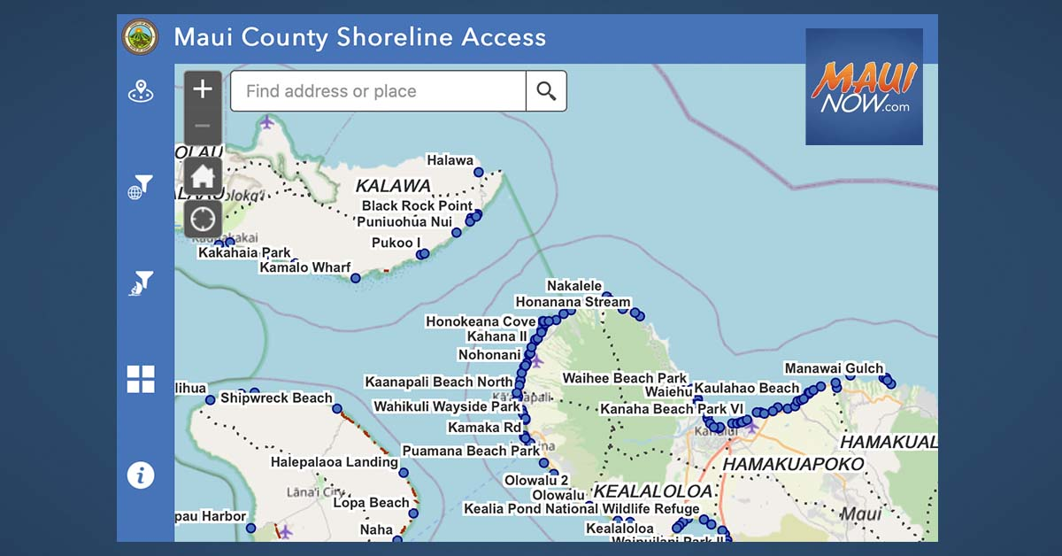 Maui County Launches New Online Atlas for Shoreline Access