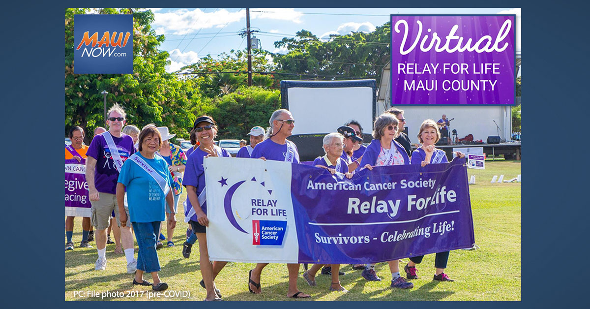 Three-Day Relay For Life of Maui Goes Virtual