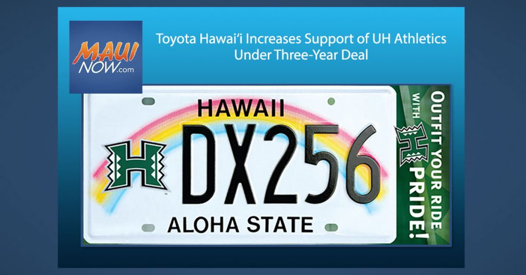 Maui Now: Toyota Hawai'i Increases Support of UH Athletics Under Three-Year Deal
