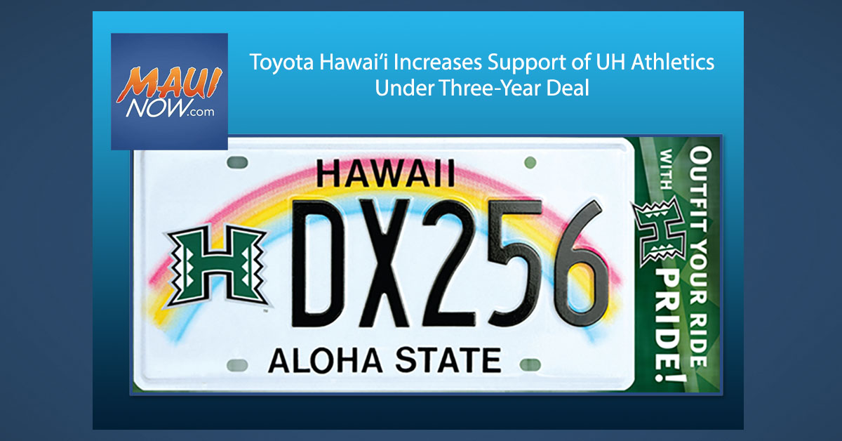 Toyota Hawai'i Increases Support of UH Athletics Under Three-Year Deal