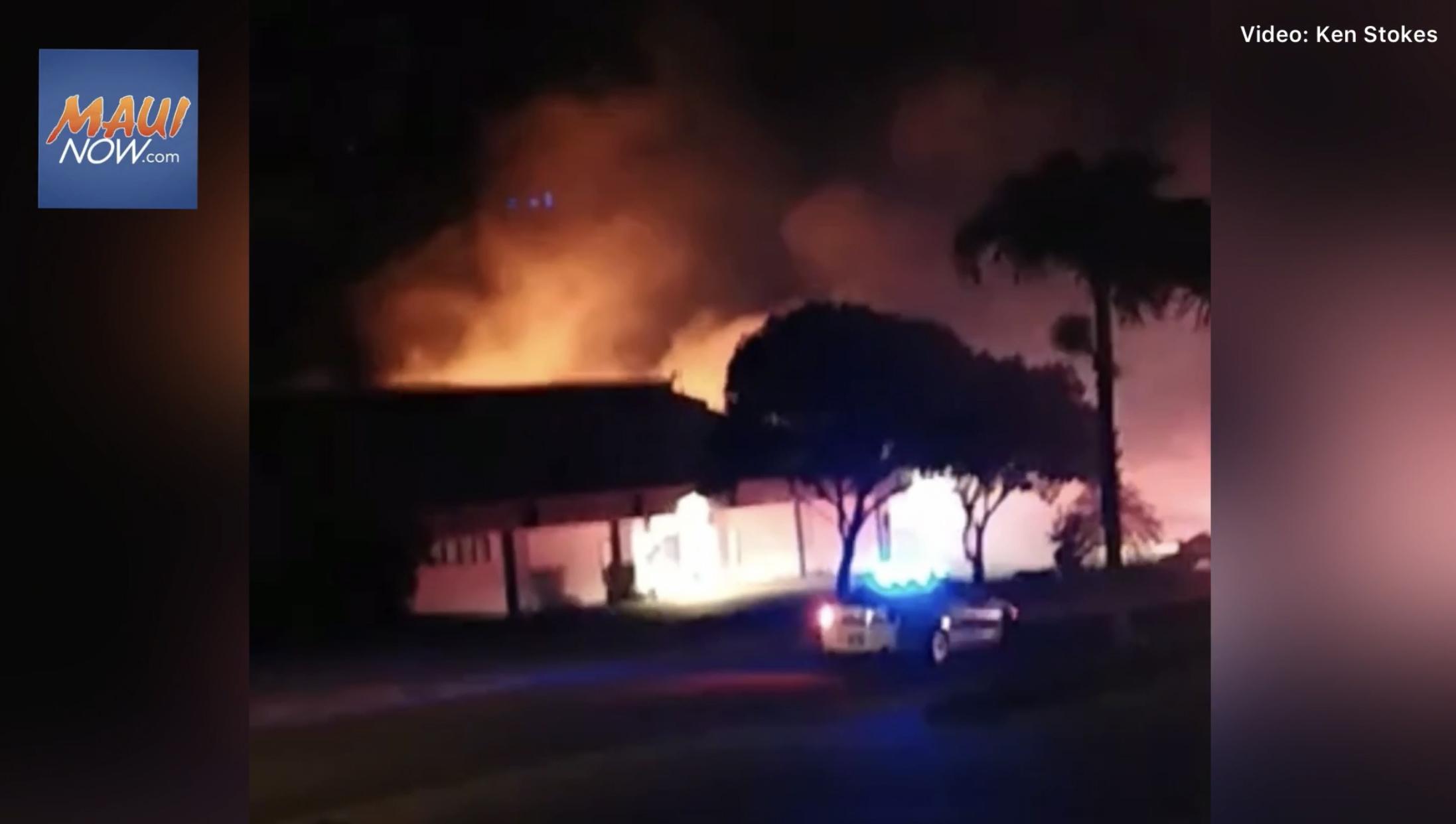 Fire Along Wili Pā Loop in Wailuku Burns Quarter Acre