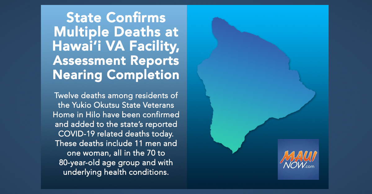 State Confirms Multiple Deaths at Hawai'i VA Facility, Pushing State COVID-19 Death Toll to 120