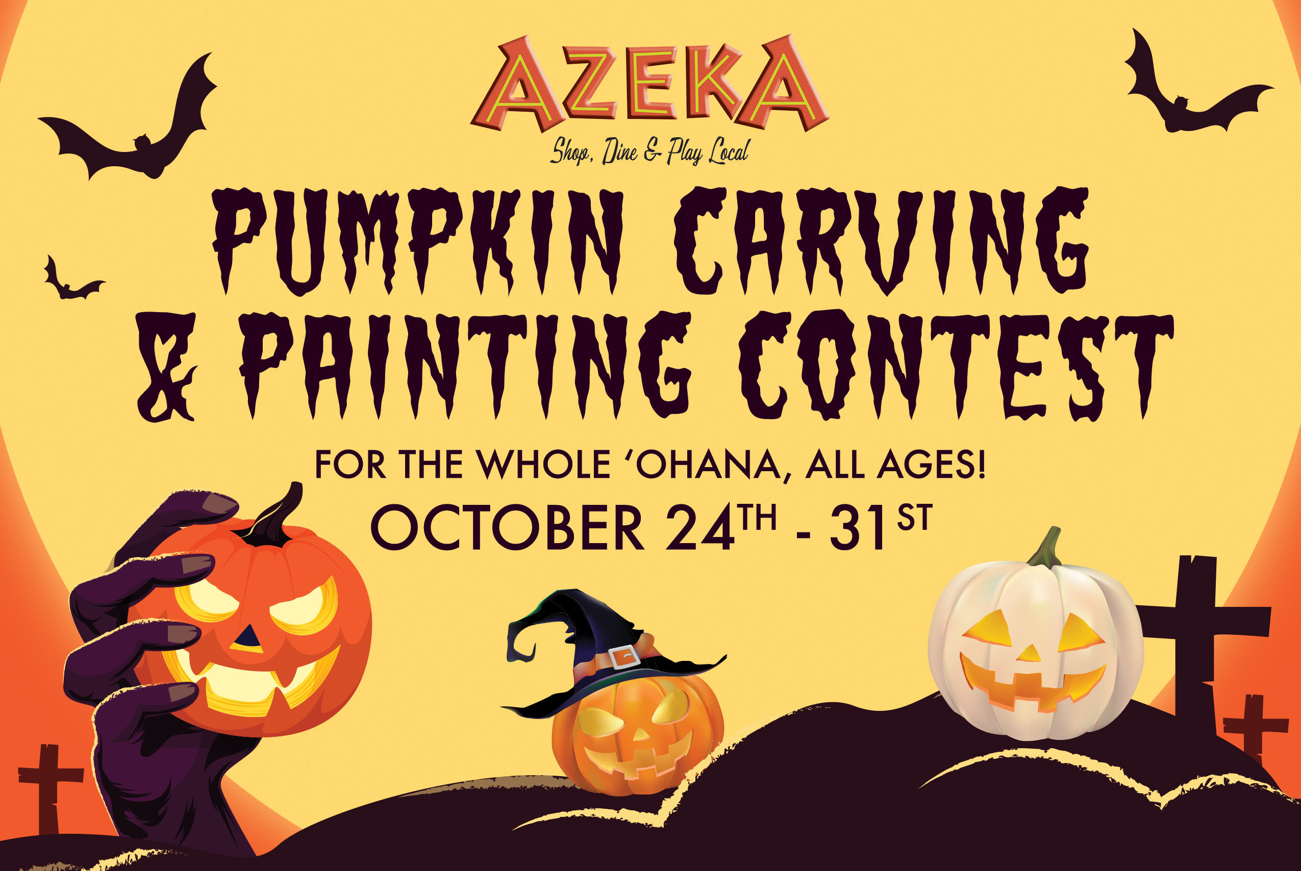 Azeka Shopping Center Hosting Virtual Pumpkin Carving and Painting Contest