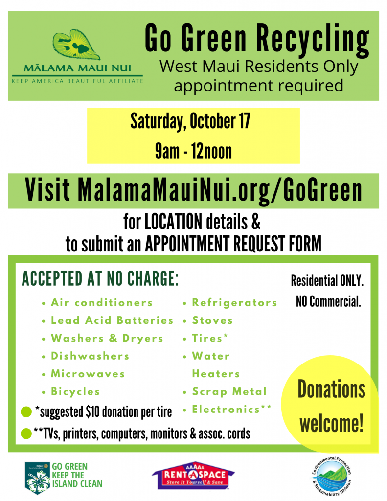 Go Green Recycling Flyer