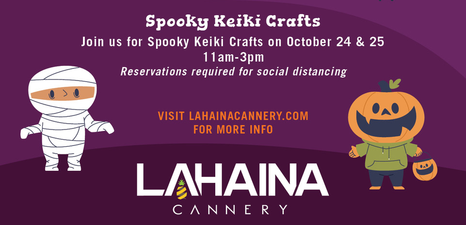 Lahaina Cannery Hosts Virtual Costume Contest and Keiki Crafts Event