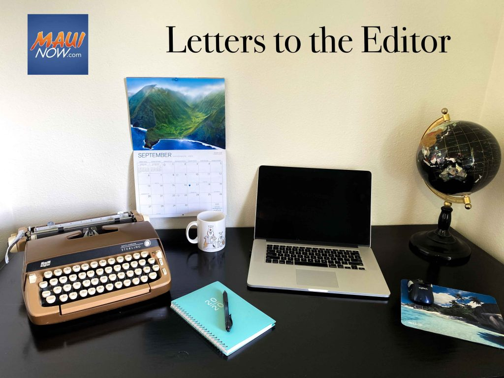 Maui Now: Letters to the Editor: Oct. 18, 2020