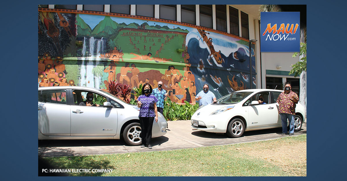 Hawaiian Electric Donates Electric Vehicles to UH Maui College Native Hawaiian Program
