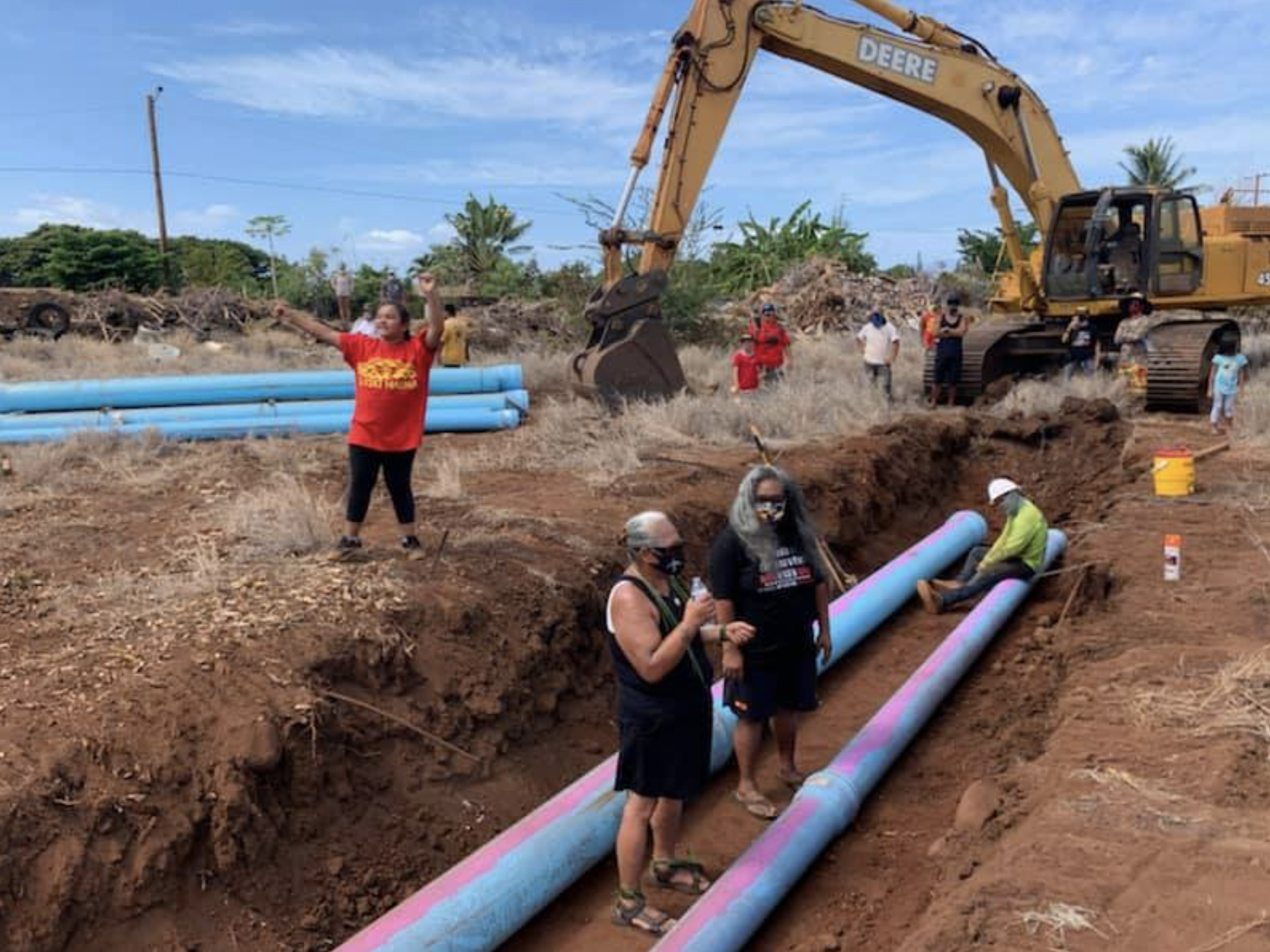 Five Maui Women Standing in Protection of Ancestral Burials, Arrested at Lahaina Construction Site