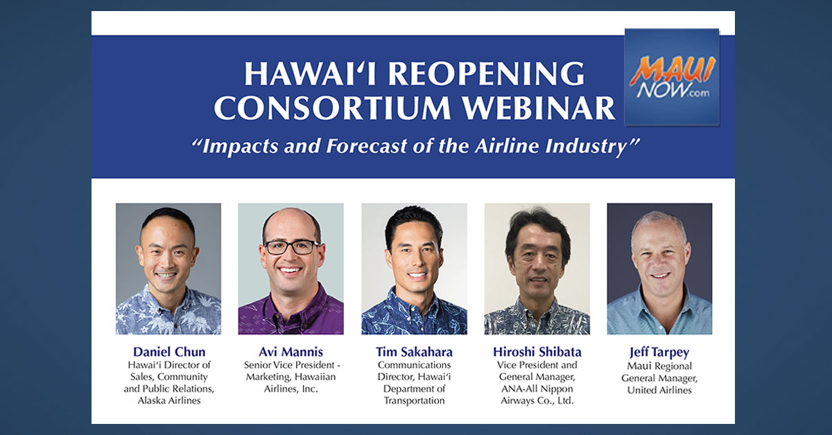 Virtual Series on Hawai'i Tourism Reopening Features Airline Executives