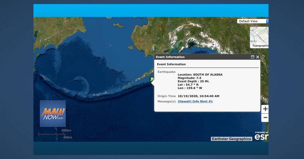 M7.5 quake hits off Alaska, tsunami alert issued