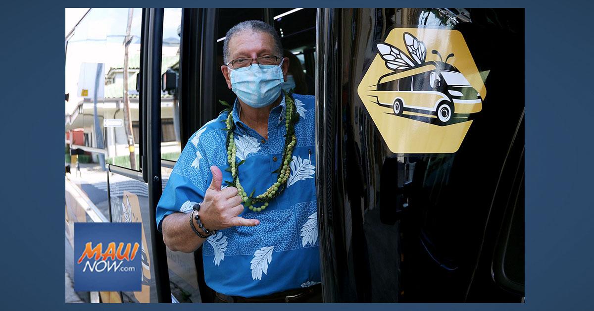 """Employees Can Catch """"Da Bee"""" Bus to Wailuku Town Starting, Oct. 7"""