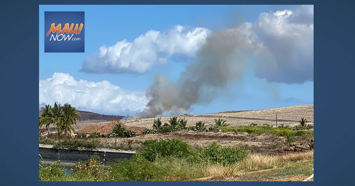 UPDATE: Kahoma Fire Burns 10 Acres in West Maui, 100% Contained