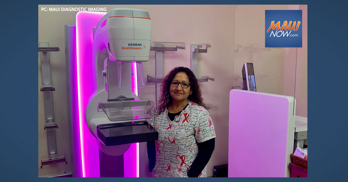 Maui Diagnostic Imaging Among First in US to Offer New Wide-Angle 3D Mammogram