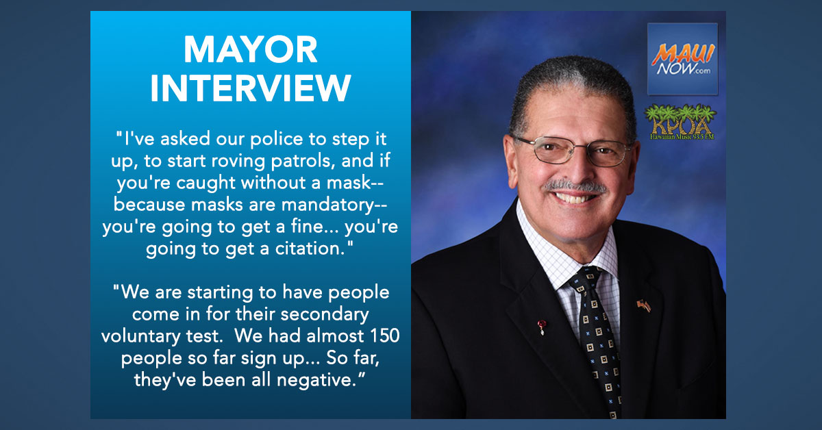 Mayor Interview: Mask Enforcement and Mahalo Cards