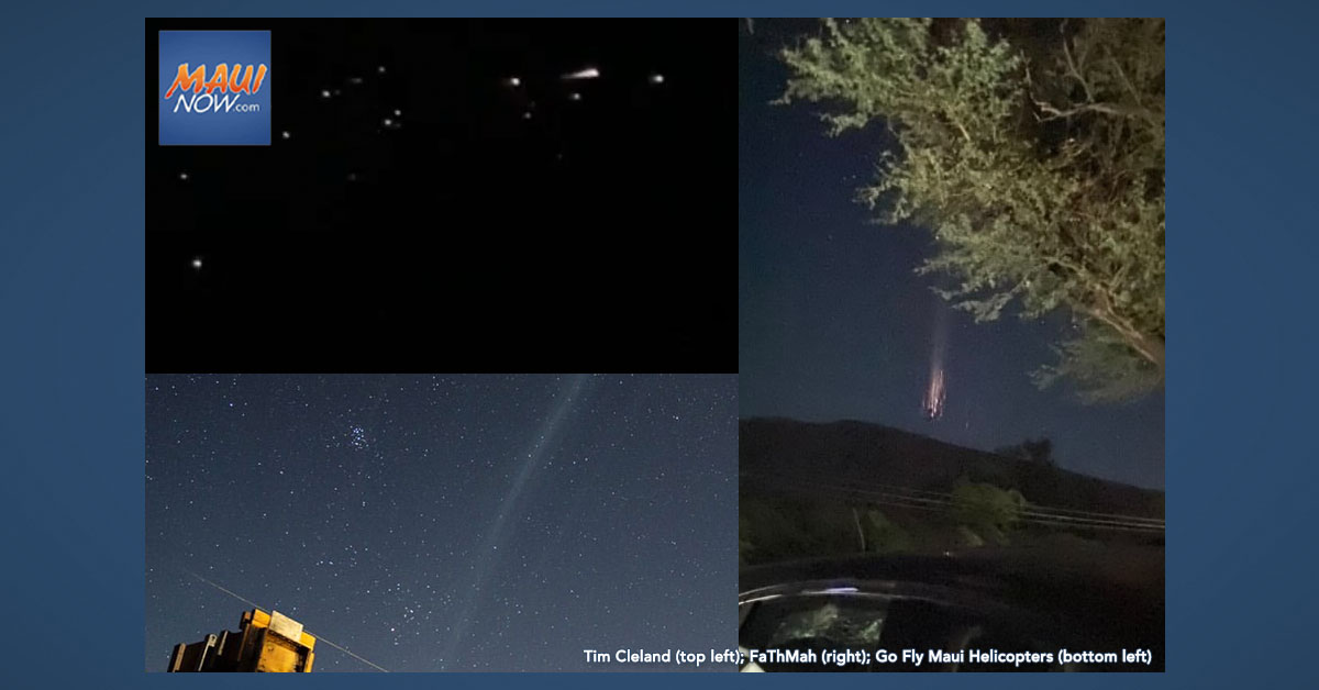 Astronomers Say Cluster of Mysterious Lights in Maui Sky was an Old Rocket Booster