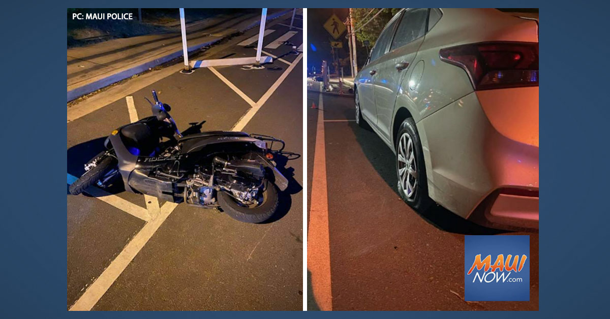 Kīhei Man Suffers Critical Life-Threatening Injuries in Moped Crash
