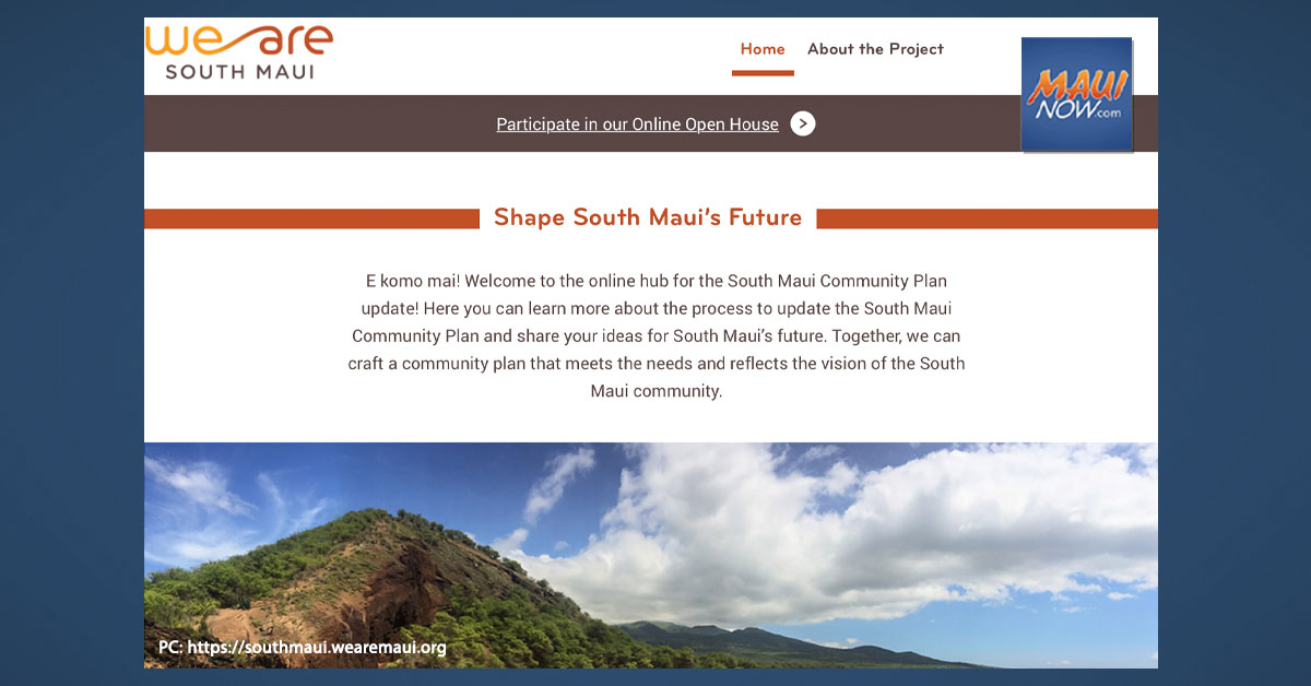 Next Phase of Vision Workshops Announced for South Maui