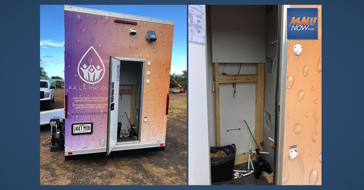 Break-in of Maui Mobile Hygiene Unit That Serves Unsheltered Homeless Community